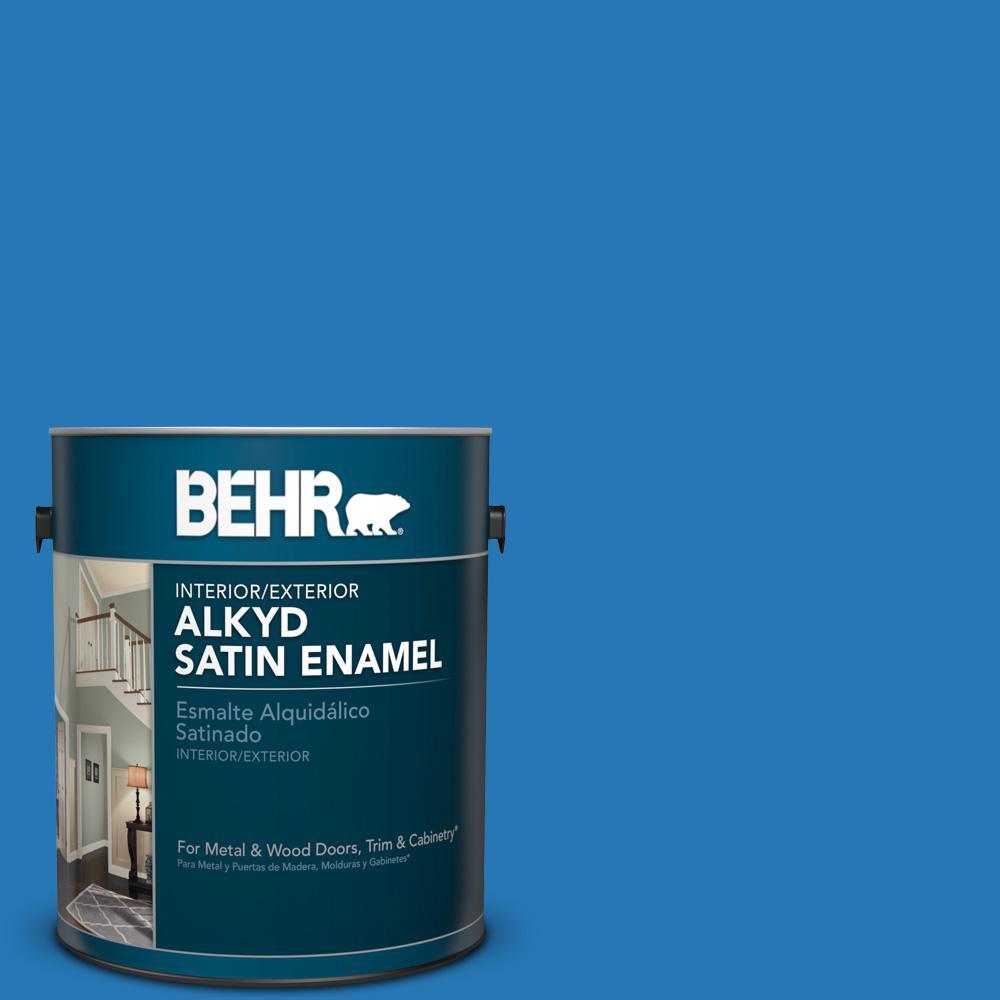 1 gal. #P500-6 Deep River Satin Enamel Alkyd Interior/Exterior Paint