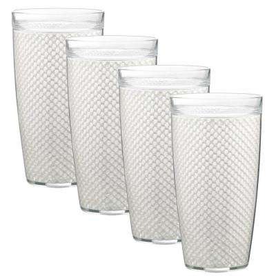 Fishnet 24 oz. White Insulated Drinkware (Set of 4)