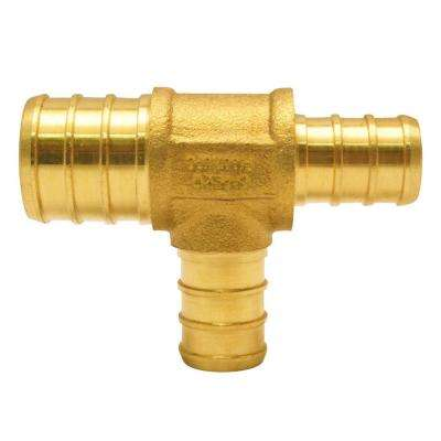 3/4 in. x 1/2 in. x 1/2 in. Brass PEX Barb Tee