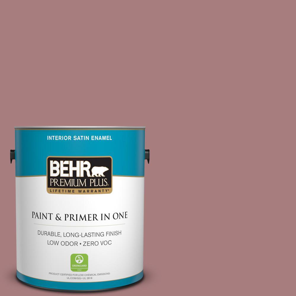 1-gal. #140F-4 Bedford Brown Zero VOC Satin Enamel Interior Paint
