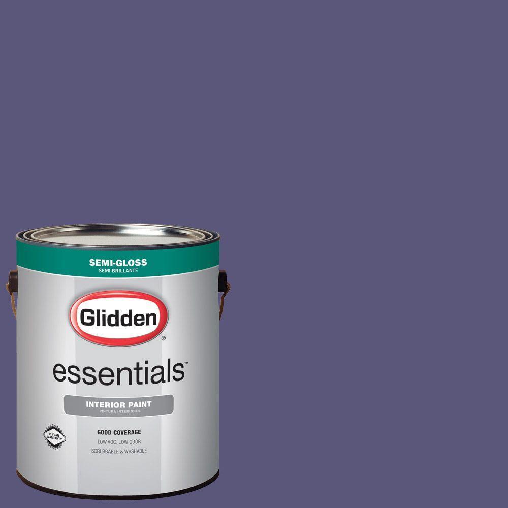 1 gal. #HDGV47D Fresh Grape Juice Semi-Gloss Interior Paint