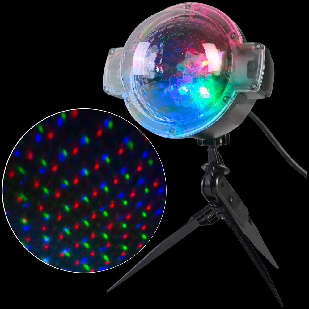 APPLights LED Projection-SnowFlurry 49 Programs Stake Light-39109 ...