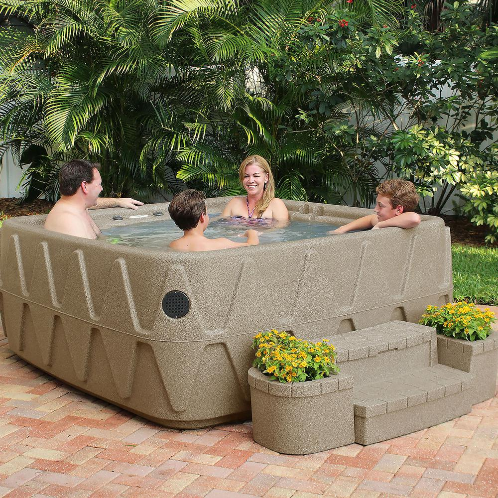Elite 500 5-Person Lounger Plug and Play Hot Tub with 29