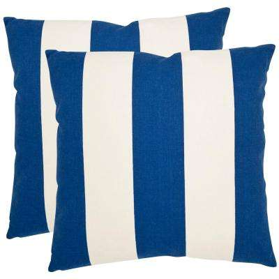 Sally Stripes Printed Patterns Pillow (2-Pack)