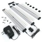 12 in. LED 3000K Black Under Cabinet Lighting, Dimmable Hand Wave Activated (3-Pack)