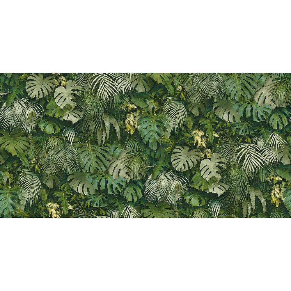BoTanical Green Vinyl Peelable Roll (Covers 57.8 sq. ft.)