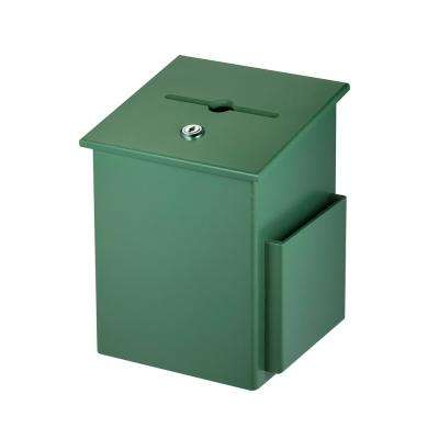 Squared Wood Locking Suggestion Box, Green