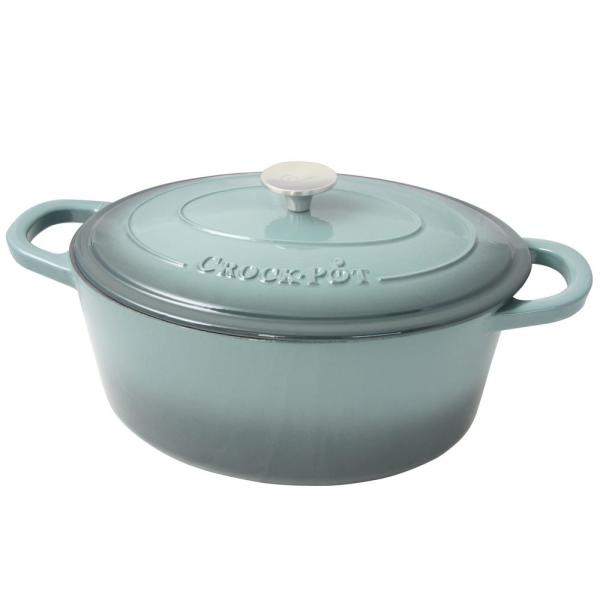 Crock-Pot Artisan 7 Qt. Enameled Cast Iron Oval Dutch Oven with