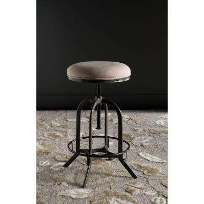 Wildomar 25 in. Burnt Oak Cushioned Bar Stool