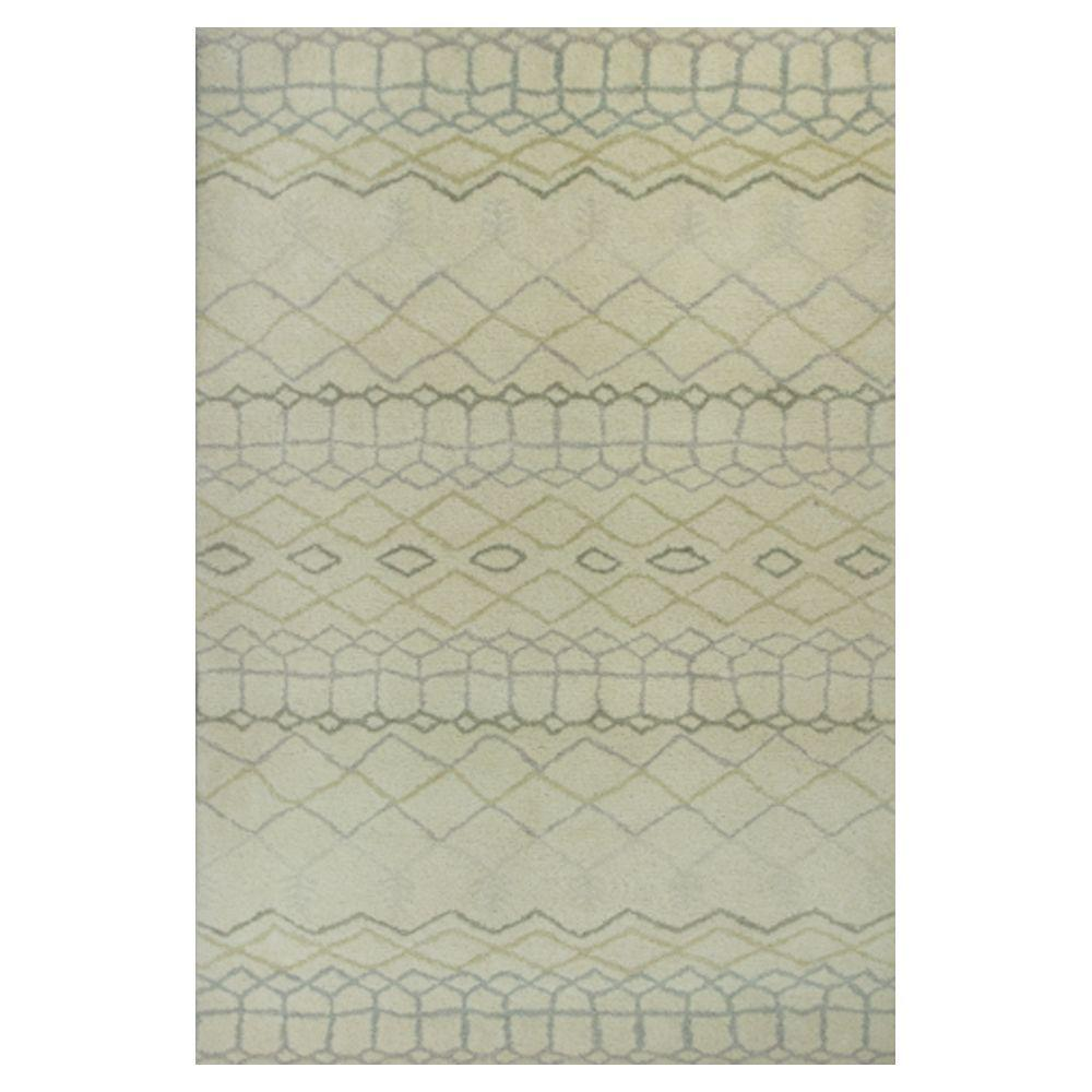 Kas Rugs Forever Moroccan Ivory/Grey 5 ft. x 7 ft. 6 in. Area Rug