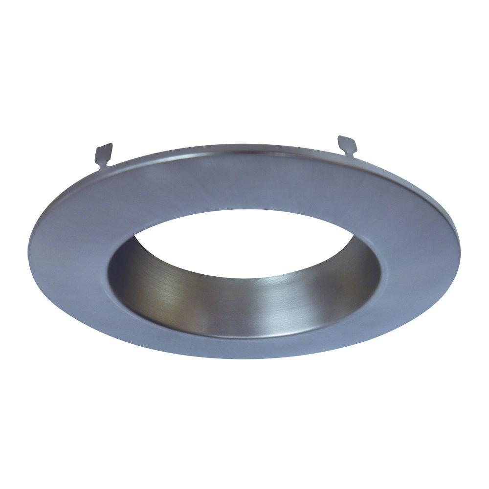 Satin Nickel Recessed Lighting Retrofit Replaceable Trim Ring  sc 1 st  The Home Depot & Halo RL 4 in. Satin Nickel Recessed Lighting Retrofit Replaceable ... azcodes.com