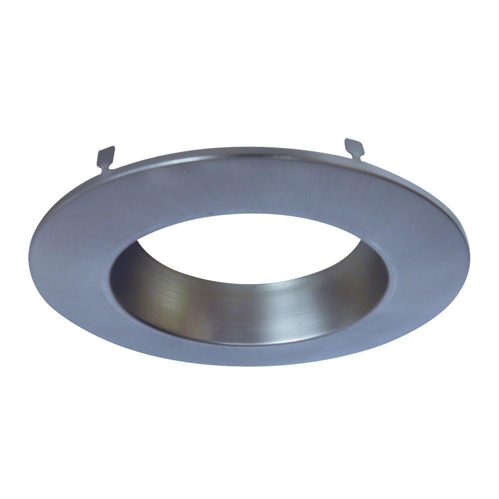 Satin Nickel Recessed Lighting Retrofit Replaceable Trim Ring