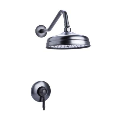Traditional Single Handle 1-Spray Round Shower Faucet in Oil Rubbed Bronze Valve Included