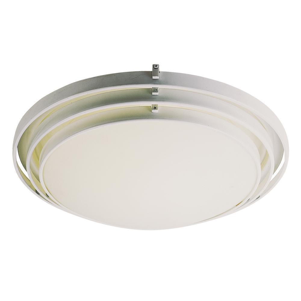 Bel Air Lighting Stewart 2-Light Ceiling White CFL Flush Mount