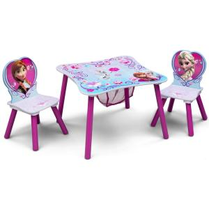 Pleasant Disney Frozen 3 Piece Multi Color Table And Chair Set With Storage Evergreenethics Interior Chair Design Evergreenethicsorg