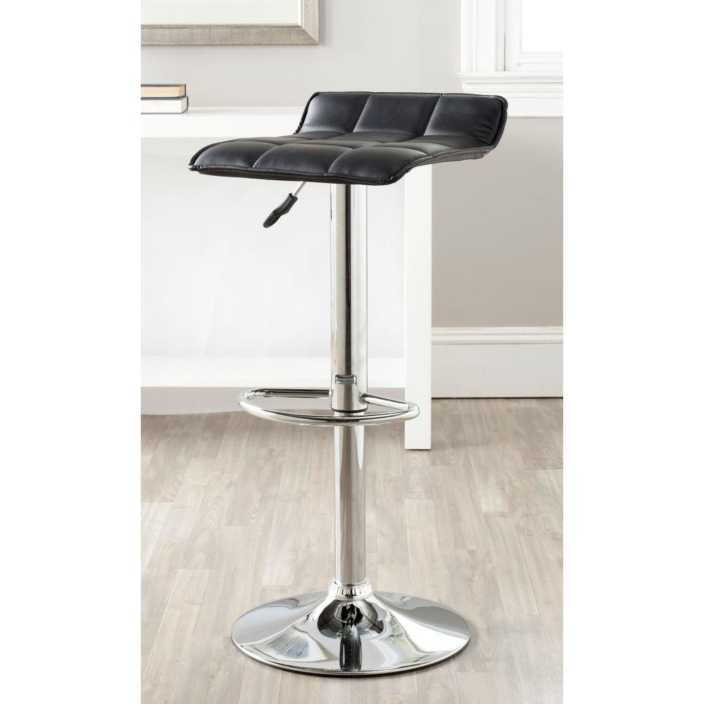 Superb Safavieh Lamita Adjustable Height Chrome Swivel Cushioned Ncnpc Chair Design For Home Ncnpcorg