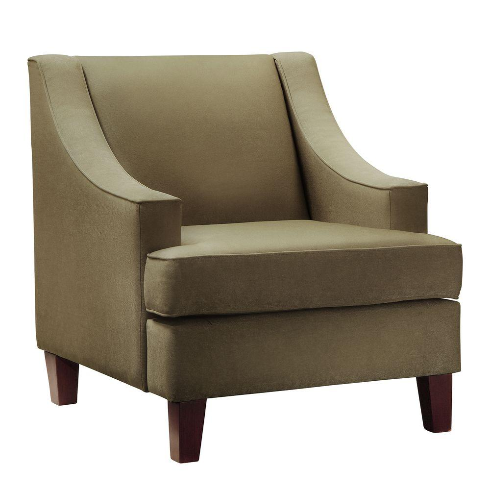 null Taupe Microfiber Arm Chair
