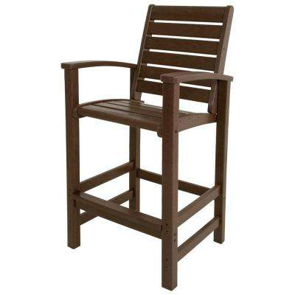 Signature Mahogany Patio Bar Chair