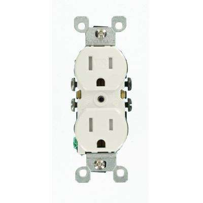 15 Amp Weather and Tamper Resistant Duplex Outlet, White