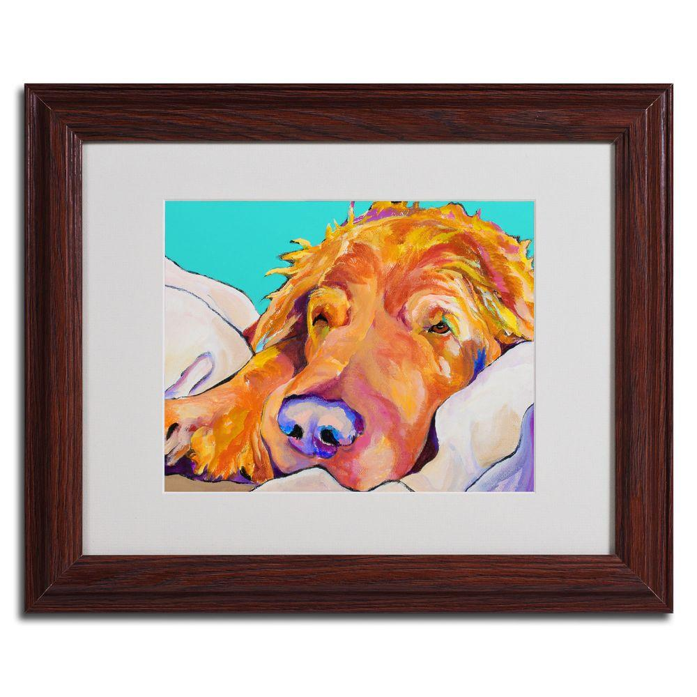 16 in. x 20 in. Snoozer King Dark Wooden Framed Matted