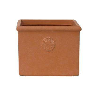 Large 16.5 in. Tall Terracota Lightweight Concrete Classic Square Planter