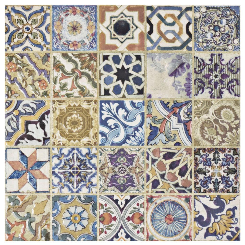 Avila Arenal Decor 12-1/2 in. x 12-1/2 in. Ceramic Floor and Wall Tile