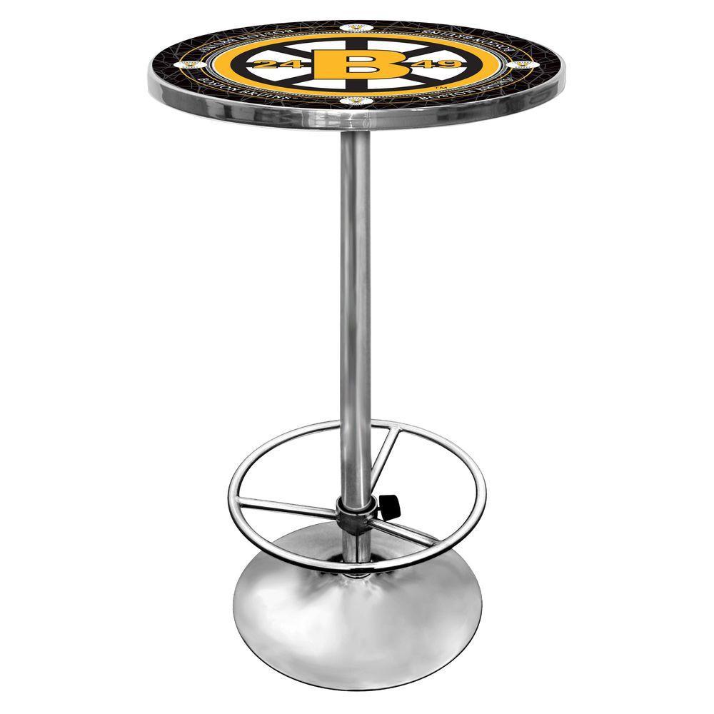 NHL Vintage Boston Bruins Chrome Pub/Bar Table