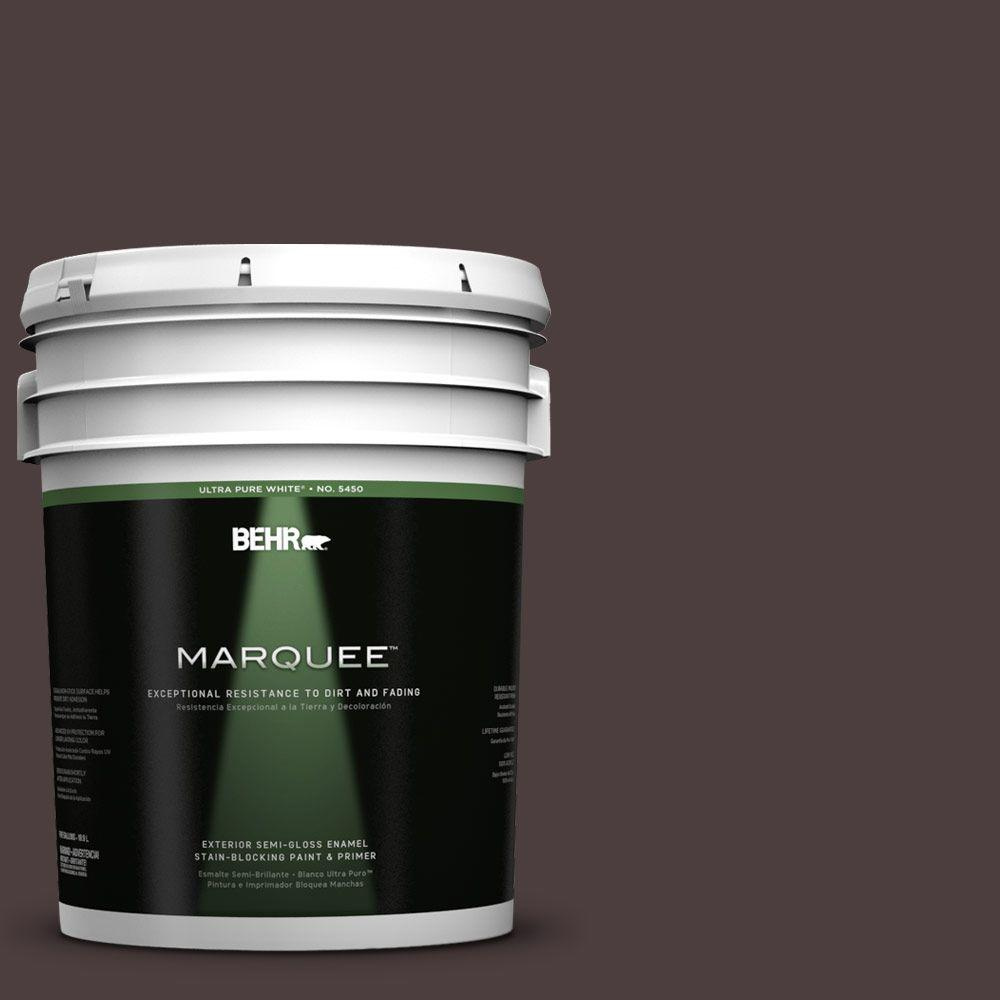 BEHR MARQUEE 5-gal. #UL110-23 Polished Leather Semi-Gloss Enamel Exterior Paint