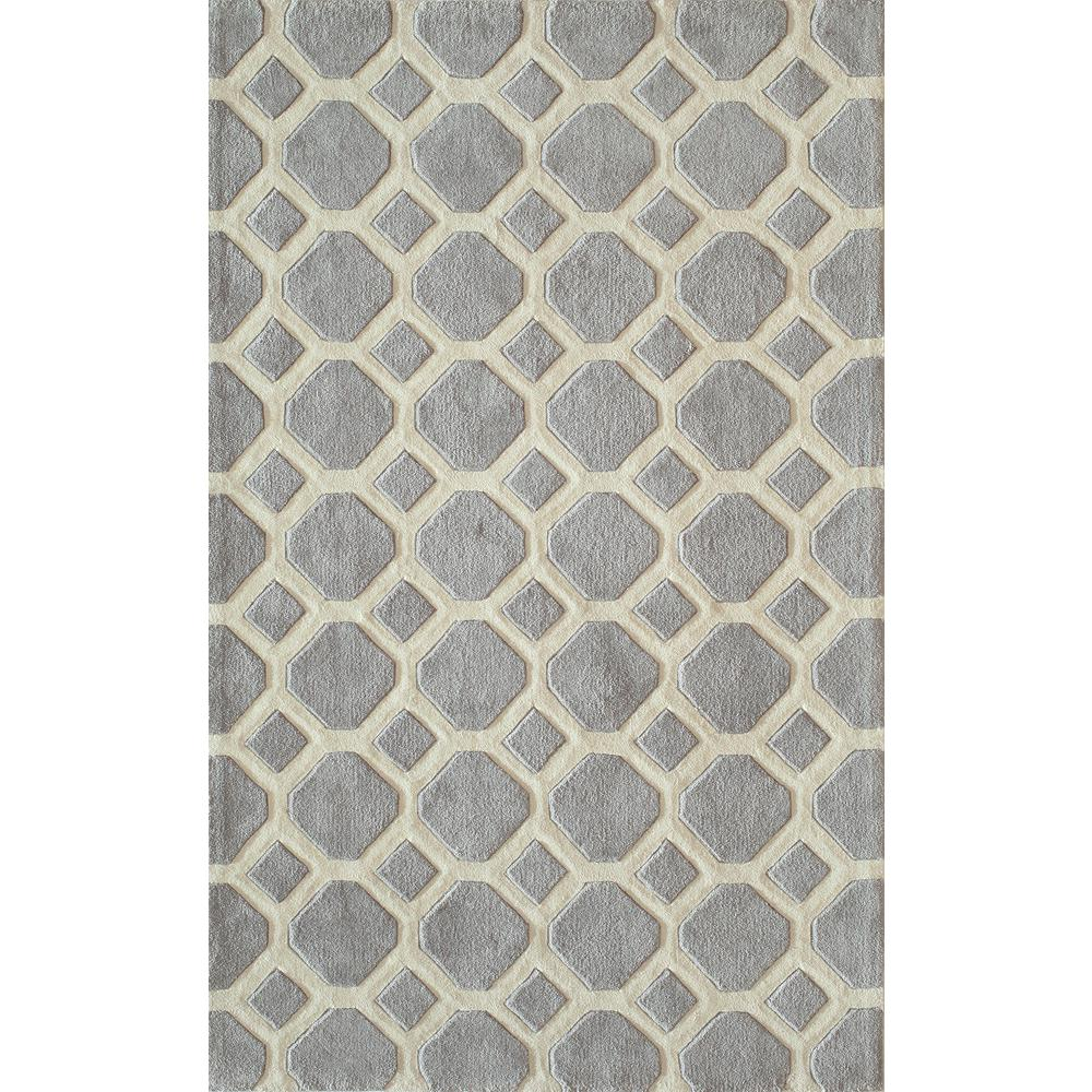 Bliss Grey 2 ft. x 3 ft. Indoor Area Rug