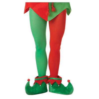 Adult Elf Christmas Red and Green Tights (3-Pack)