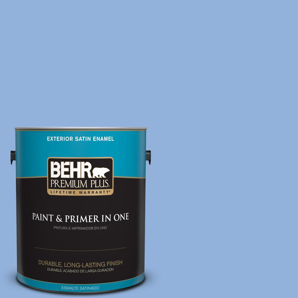 1 gal. #PPU15-12 Bluebird Satin Enamel Exterior Paint