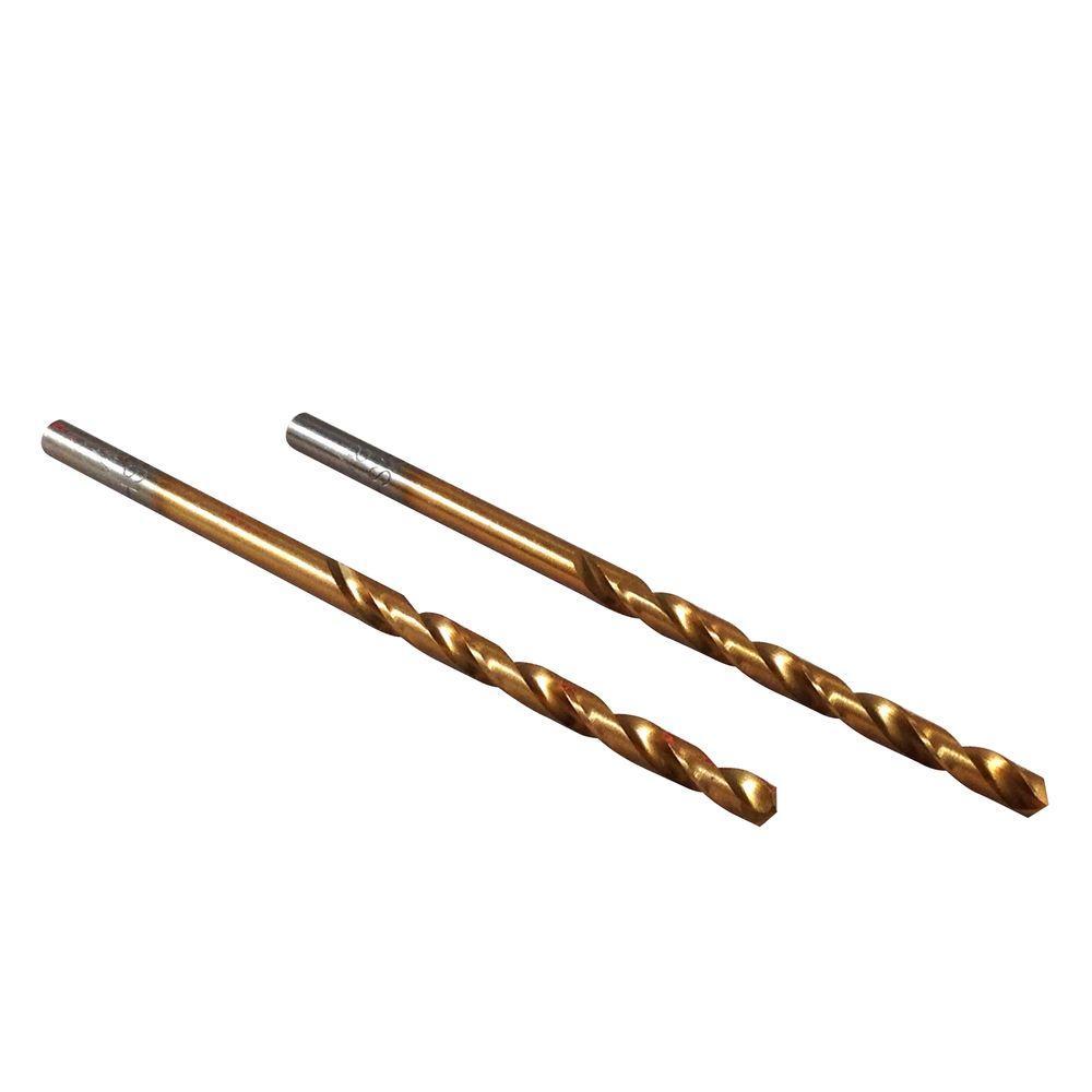 1/8 in. Diameter Titanium Jobber Drill Bit (2-Pack)