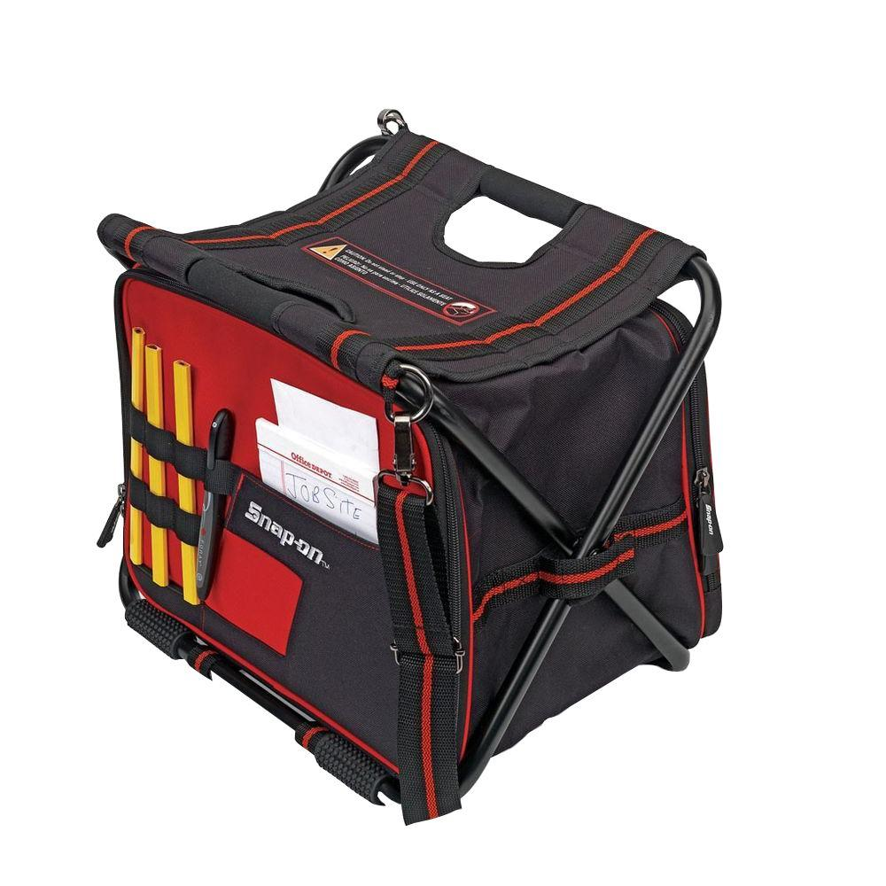 Snap-on 16 in. Folding Tool Bag with Built-in Seat