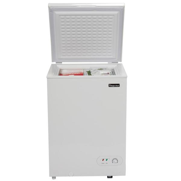 Magic Chef 3 5 Cu Ft Chest Freezer In White Hmcf35w2 The Home Depot