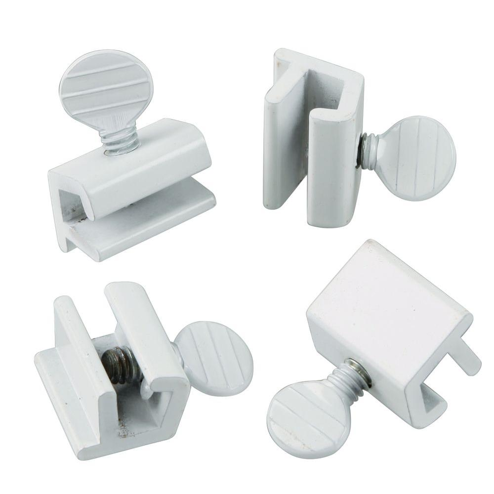 First Watch Security White Window Slide Stop 4 Pack