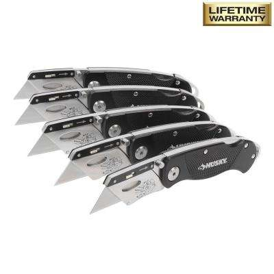 Folding Lock-Back Utility Knife (5-Piece)
