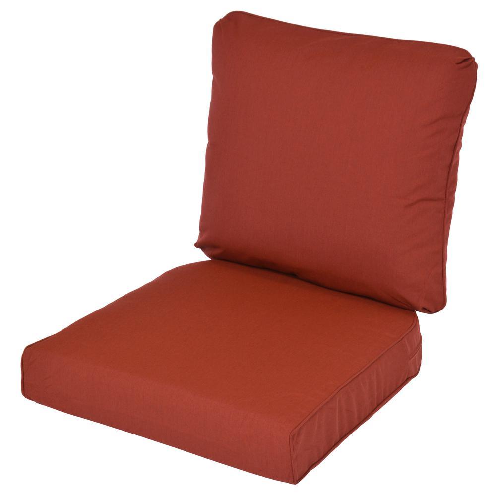 Lemon Grove Sunbrella Canvas Henna Replacement 2-Piece Outdoor Dining Chair Cushion