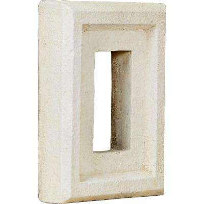 2 in. x 6-1/4 in. x 8-1/4 in. Dove White Urethane Universal Electrical Outlet for Stone and Rock Wall Panels