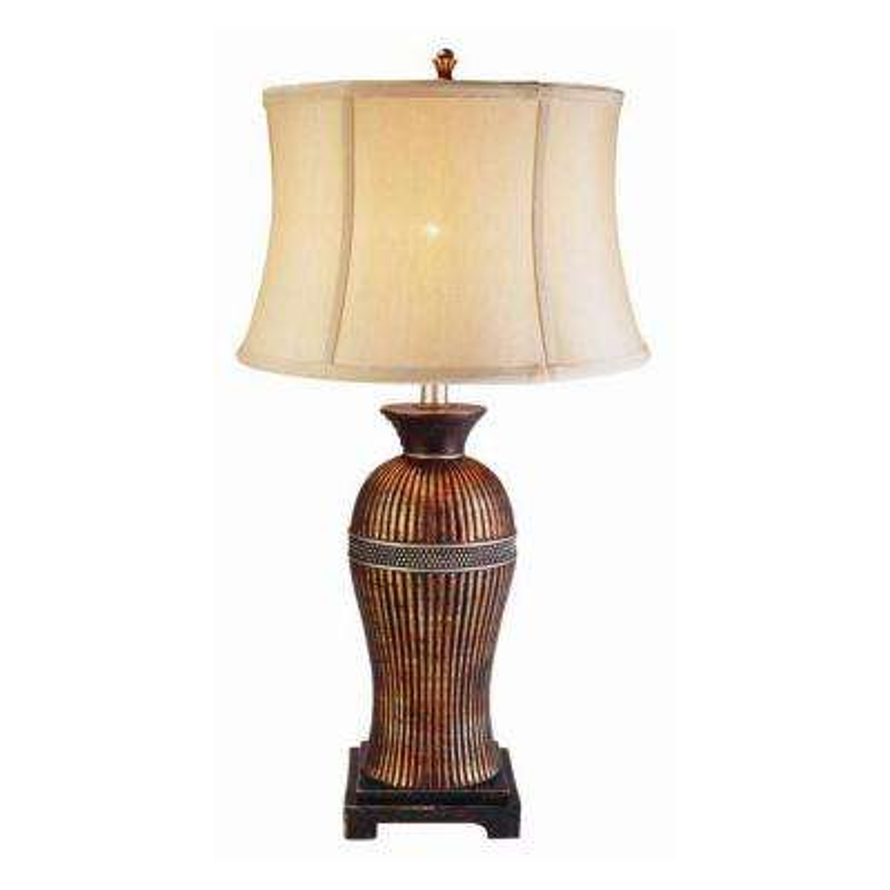 28 in. Antique Brass Davina Table Lamp