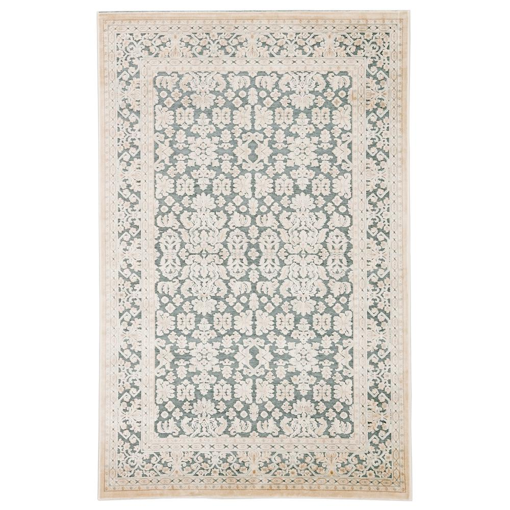 Jaipur Living Fables Teal 5 Ft. X 7 Ft. 6 In. Damask