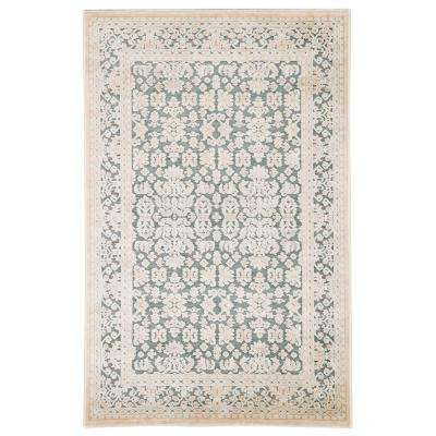 Fables Teal 8 ft. 10 in. x 11 ft. 9 in. Damask Rectangle Rug