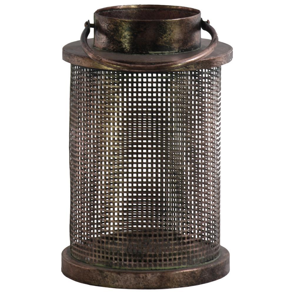 Black Candle Metal Decorative Lantern