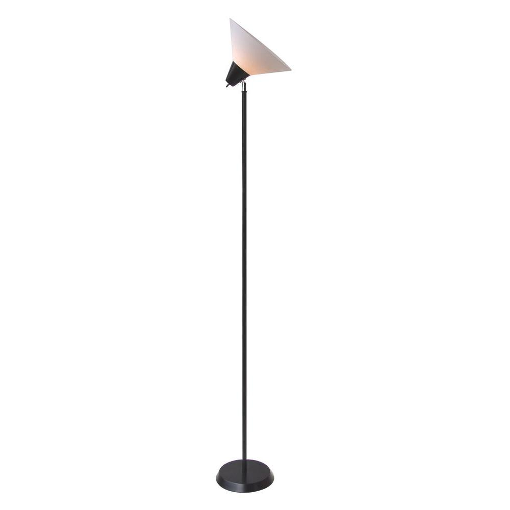 Nice Hampton Bay 71.5 In. Black Swivel Floor Lamp