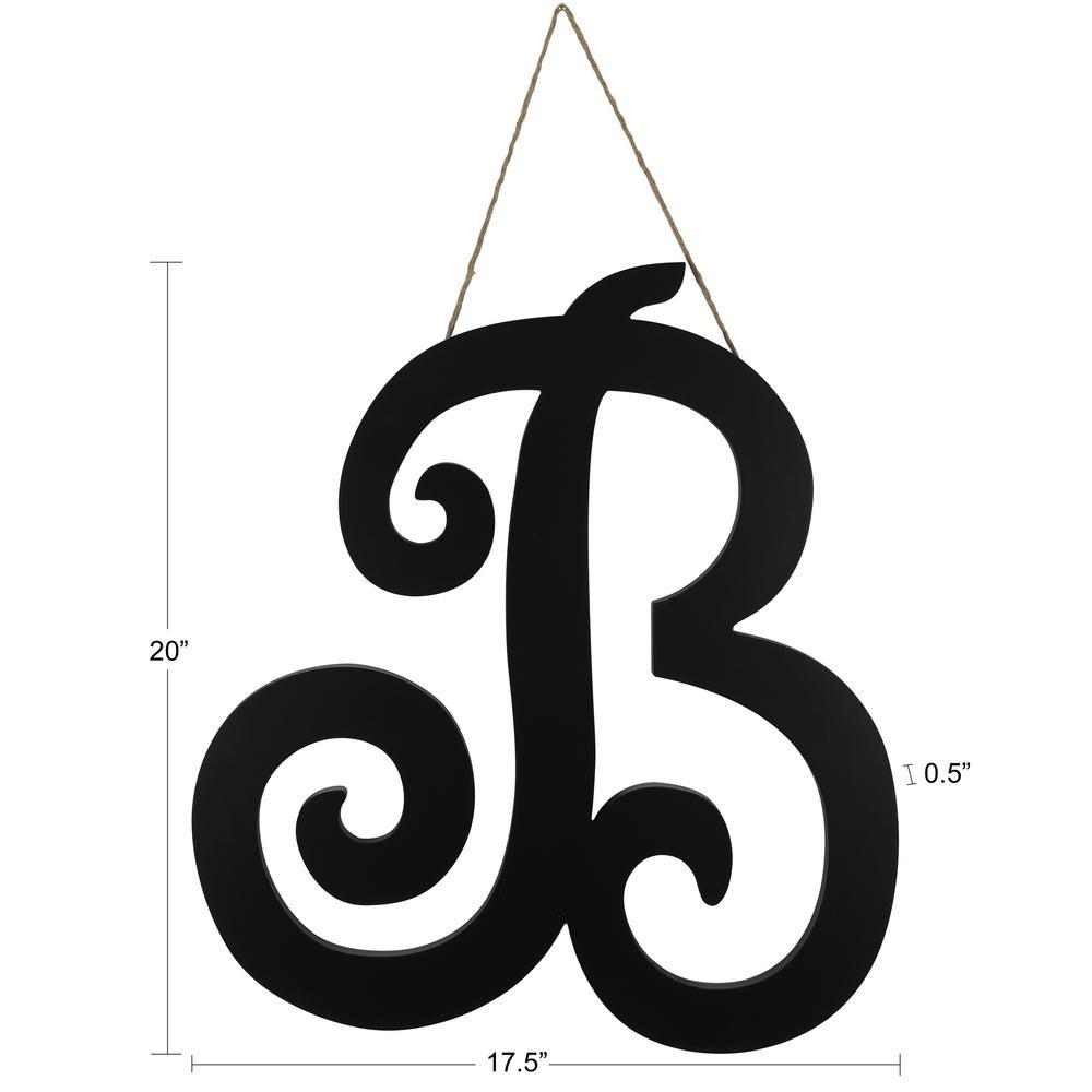 20 in. Black B Script letter