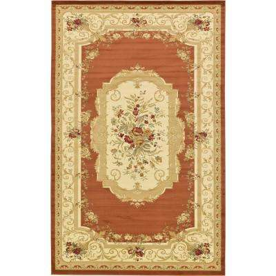Versailles Brick Red 10 ft. 6 in. x 16 ft. 5 in. Area Rug