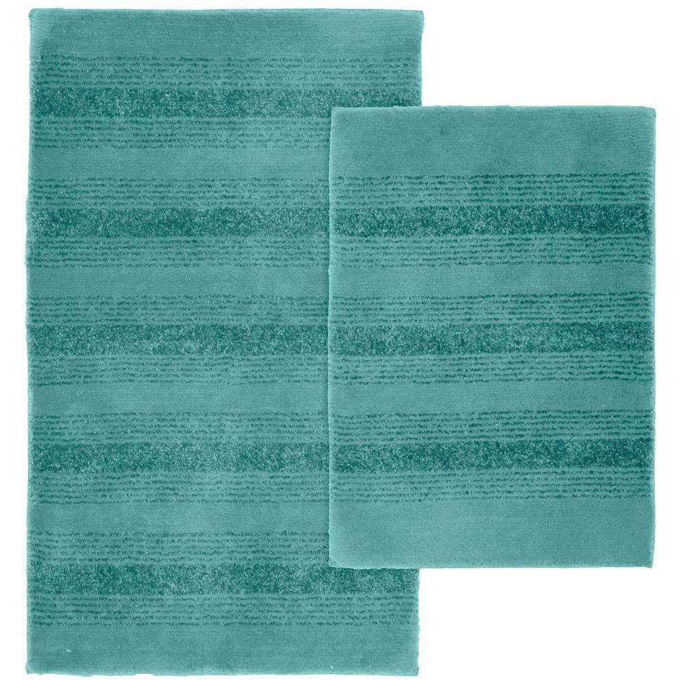 Garland Rug Essence Sea Foam 21 In X 34 Nylon Washable Bathroom 2