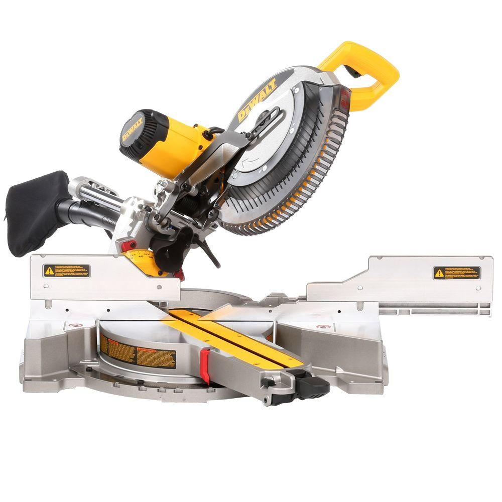 DEWALT 15 Amp 12 in. Double Bevel Sliding Compound Miter Saw