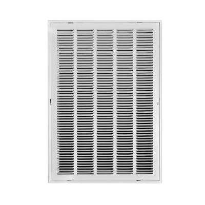 20 in. x 30 in. White Return Air Filter Grille