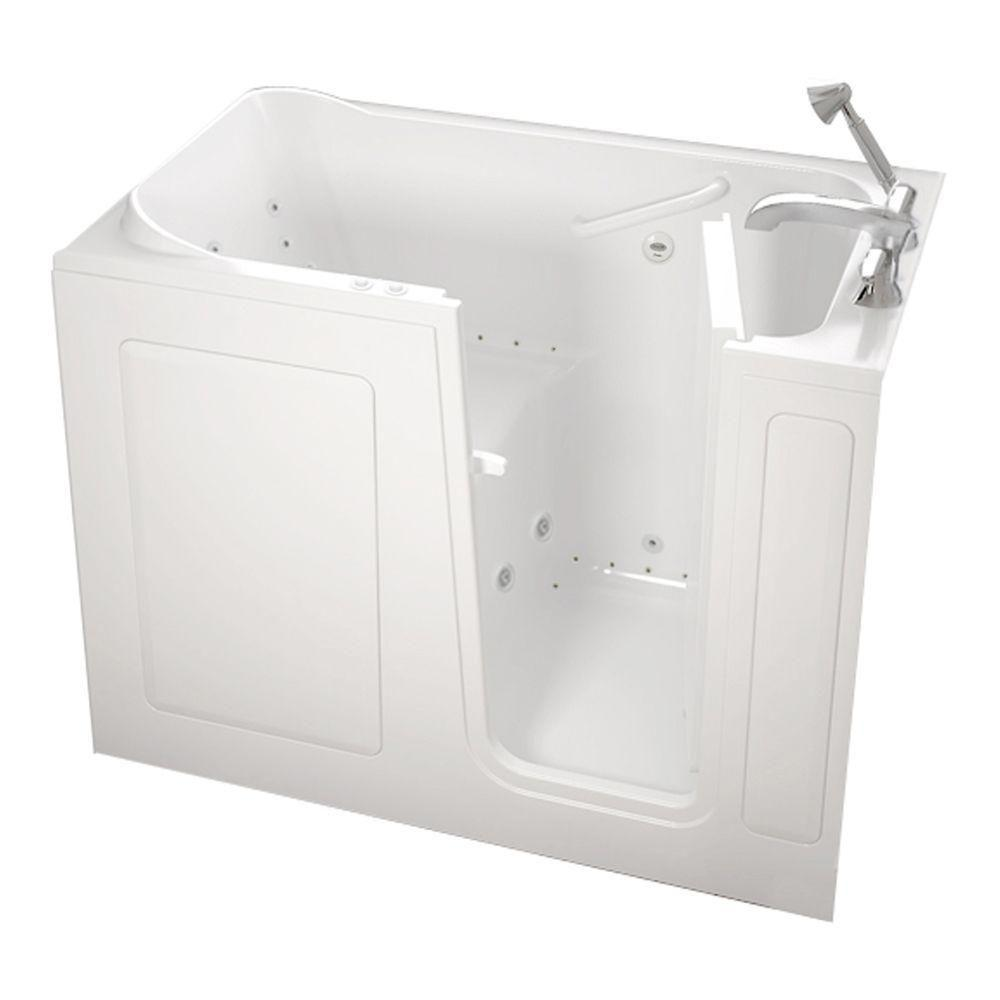 American Standard Gelcoat Standard Series 48 in. x 28 in. Walk-In Whirlpool and Air Bath Tub with Quick Drain in White