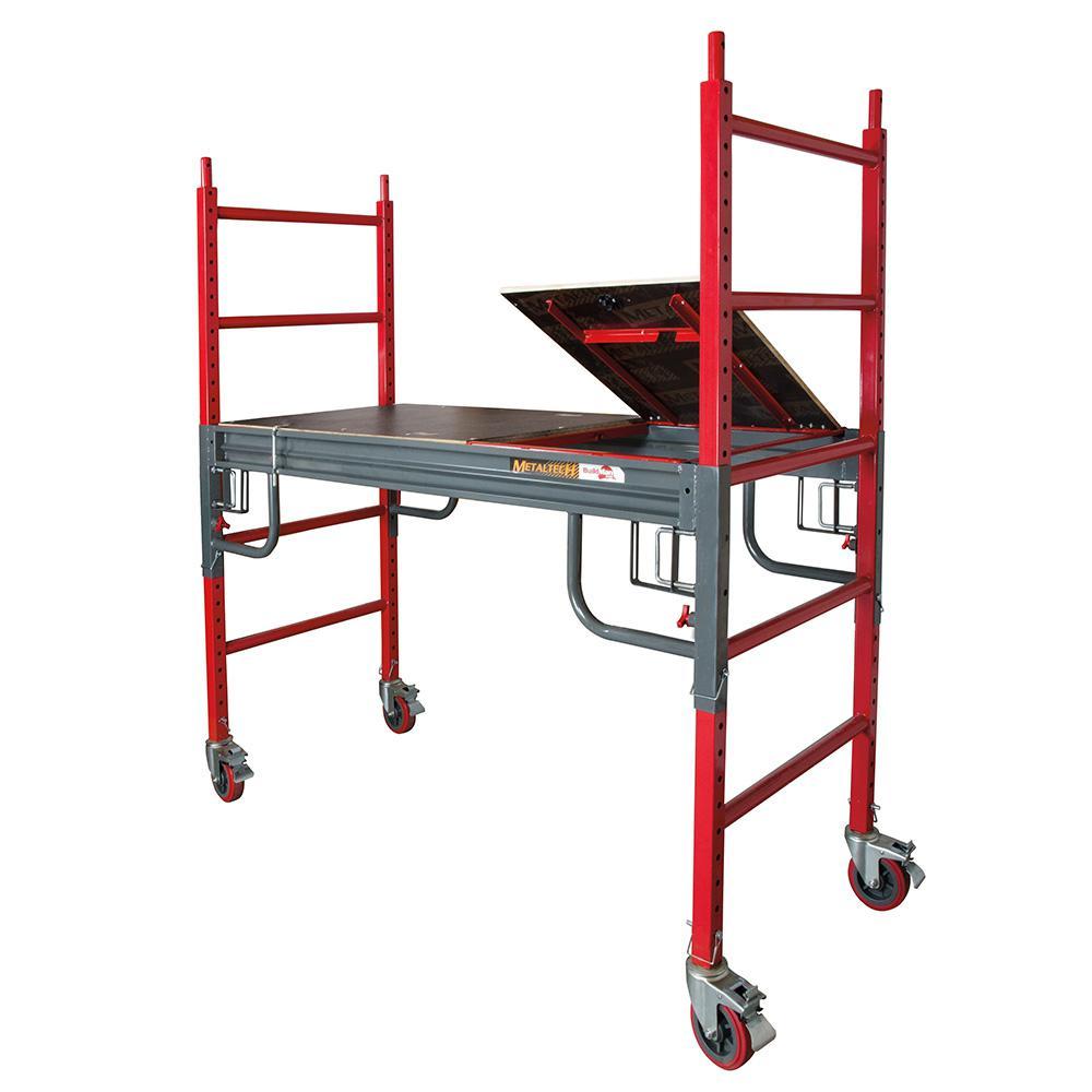 Buildman 2.58 in. x 6.3 in. x 6 ft. Drywall Baker Scaffold 1500 lbs. Load Capacity